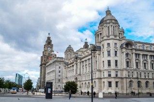 37 Las 3 gracias Royal Liver, el edificio Cunard y el edificio Port of Liverpool