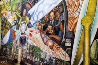 El hombre controlador del Universo (Diego Rivera) Palacio de Bellas Artes en la Ciudad de México